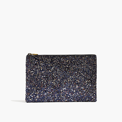 The Leather Pouch Clutch: Glitter Edition