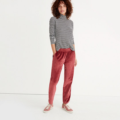Track Trousers in Velvet