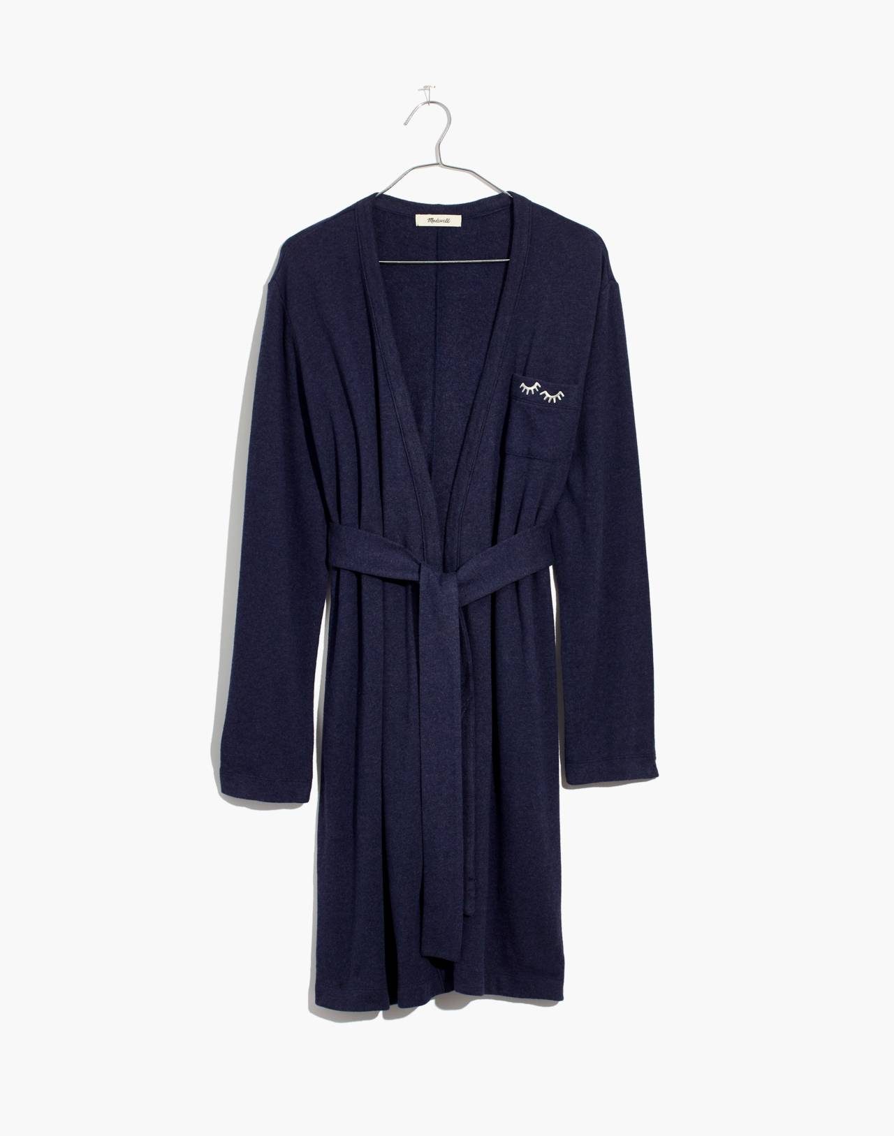 Embroidered Robe in heather admiral image 4