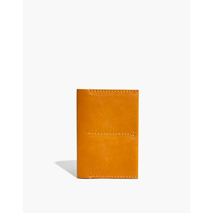 Leather Passport Case in Cider