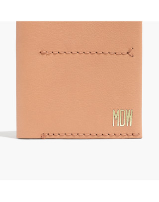 The Leather Passport Case in linen image 1