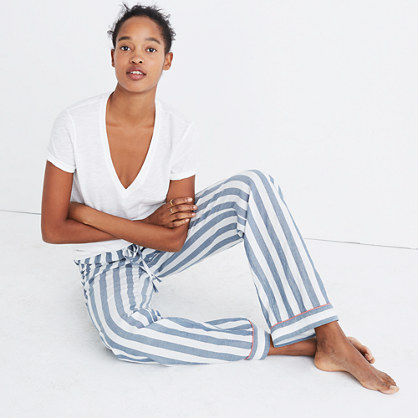 Bedtime Pajama Pants in Oxford Stripe