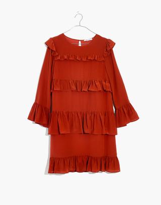 Silk Waterlily Ruffle Dress