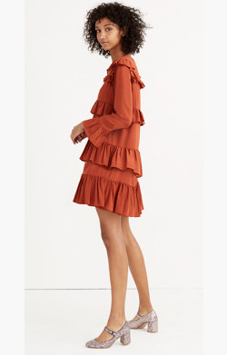 Silk Waterlily Ruffle Dress