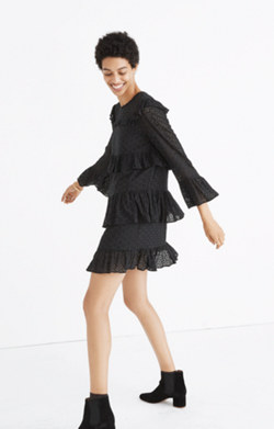 Eyelet Waterlily Ruffle Dress