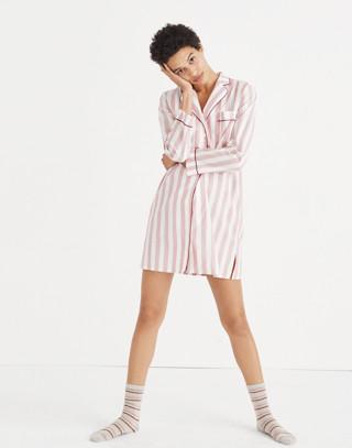 Bedtime Nightshirt in Oxford Stripe in fire image 2