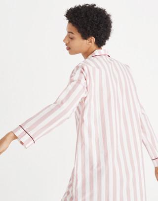 Bedtime Nightshirt in Oxford Stripe in fire image 3