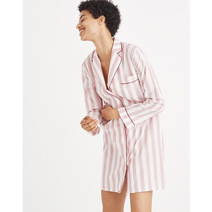 Bedtime Nightshirt in Oxford Stripe
