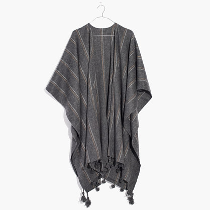 Striped Poncho Scarf