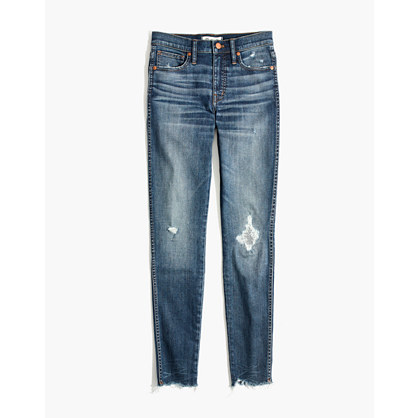 "Taller 9"" High-Rise Skinny Jeans in Allegra Wash: Rip and Repair Edition"