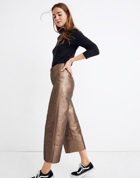 Emmett Wide-Leg Crop Pants in Metallic in metallic sand image 2