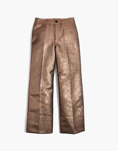 Emmett Wide-Leg Crop Pants in Metallic in metallic sand image 4