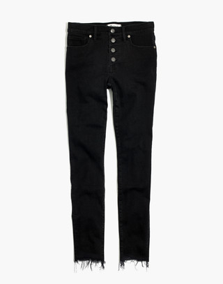 "Petite 9"" High-Rise Skinny Jeans in Berkeley Black: Button-Through Edition in berkeley wash image 4"