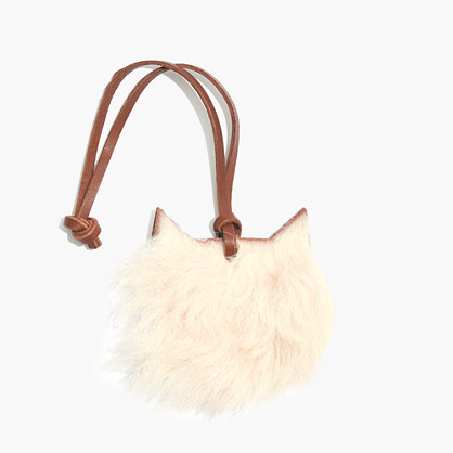 Shearling Cat Bag Tag