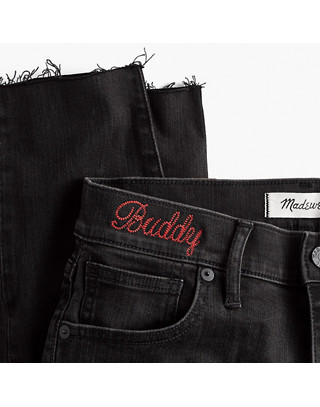 """Taller 9"""" High-Rise Skinny Jeans in Berkeley Black: Button-Through Edition"""