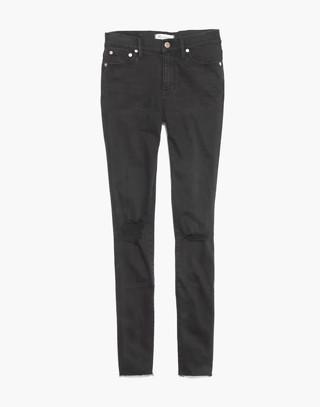 "Petite 9"" High-Rise Skinny Jeans in Black Sea"
