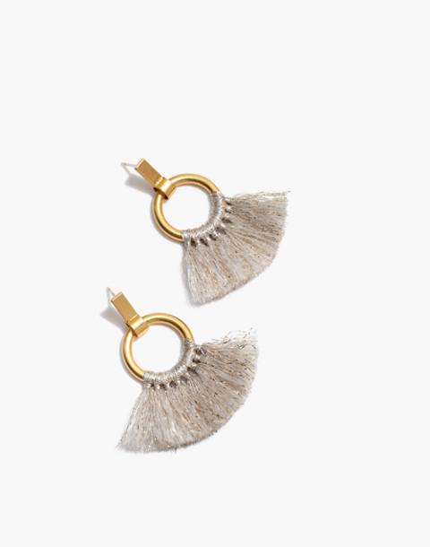 Tassel Hoop Earrings in champagne image 1