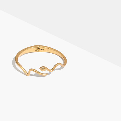 Snake Hinge Cuff Bracelet