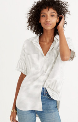 Flannel Courier Shirt in Stripe