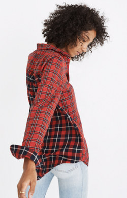 Classic Ex-Boyfriend Shirt in Plaid Patchwork