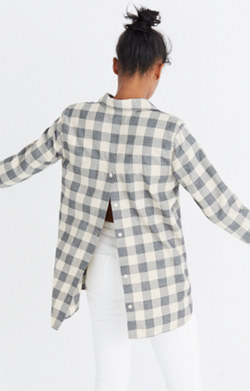 Classic Ex-Boyfriend Button-Back Shirt in Buffalo Check