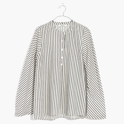 Striped Flare-Sleeve Shirt
