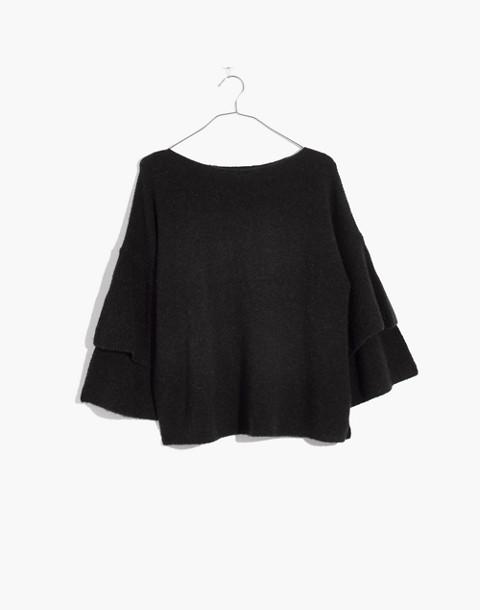 Tier-Sleeve Pullover Sweater in Coziest Yarn in hthr metal image 1