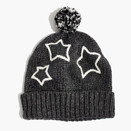 Starry Pom-Pom Beanie