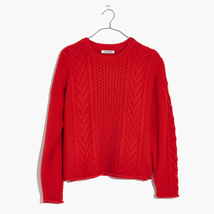 Cableknit Pullover Sweater