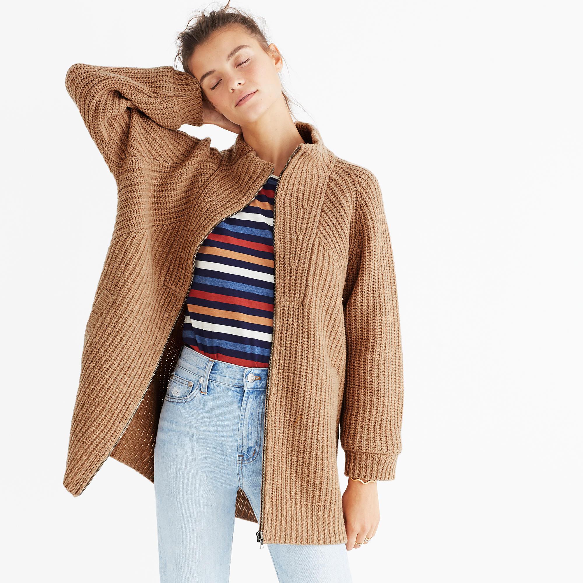 Ribbed Zip Cardigan Sweater : shopmadewell cardigans & sweater ...