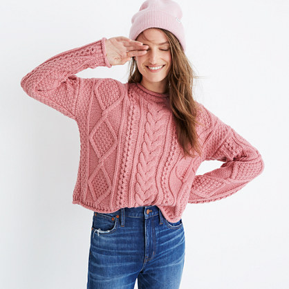 Slope Cableknit Pullover Sweater