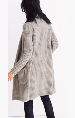 Wafflestitch Sweater-Coat