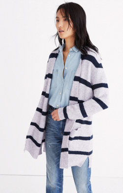 Kent Cardigan Sweater in Stripe