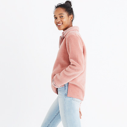 Pink Sherpa Popover Top