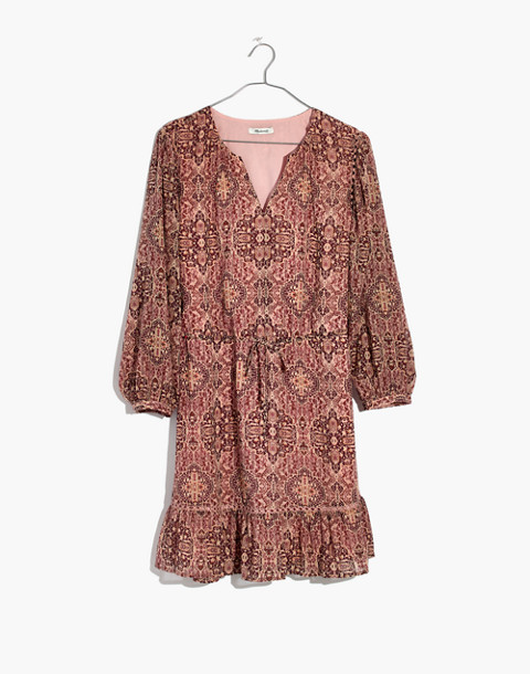 Drawstring Peasant Dress in Kaleidoscope Print in kaliedoscope gentle blush image 4