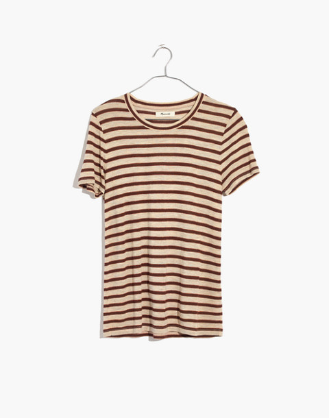 Metallic Stripe Crewneck Tee