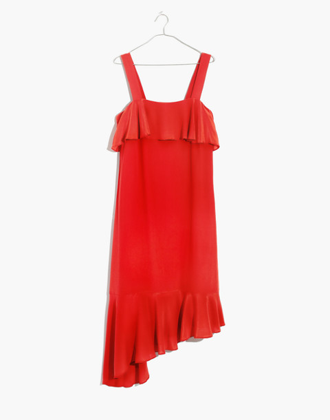 Silk Ruffle Tank Dress