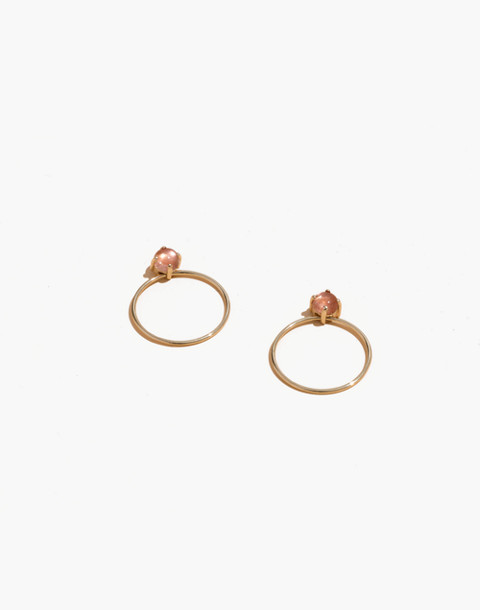 Madewell x Winden™ 14k Gold Meghan Sunstone Earrings in gold pink stone image 1