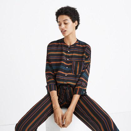 Silk Clermont Stripe Shirt
