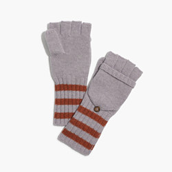 Striped Convertible Gloves