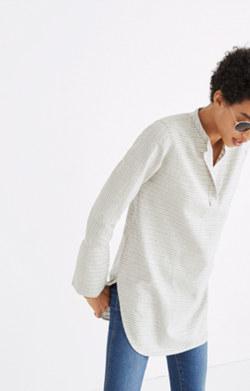Split-Cuff Tunic Shirt