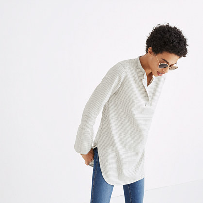 Split-Cuff Tunic Shirt