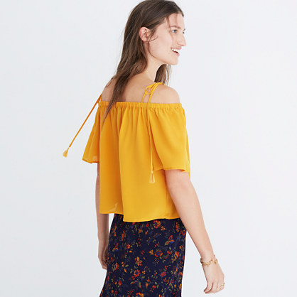 Silk Cold-Shoulder Top