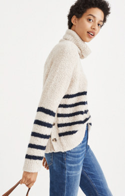 Mariner Stripe Turtleneck Sweater