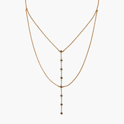 Nuit Layered Lariat Necklace