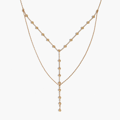 Sphere Layered Lariat Necklace