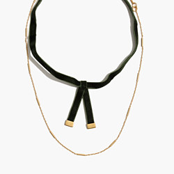 Velvet Layered Choker Necklace