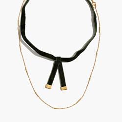Velvet Layered Choker Necklace