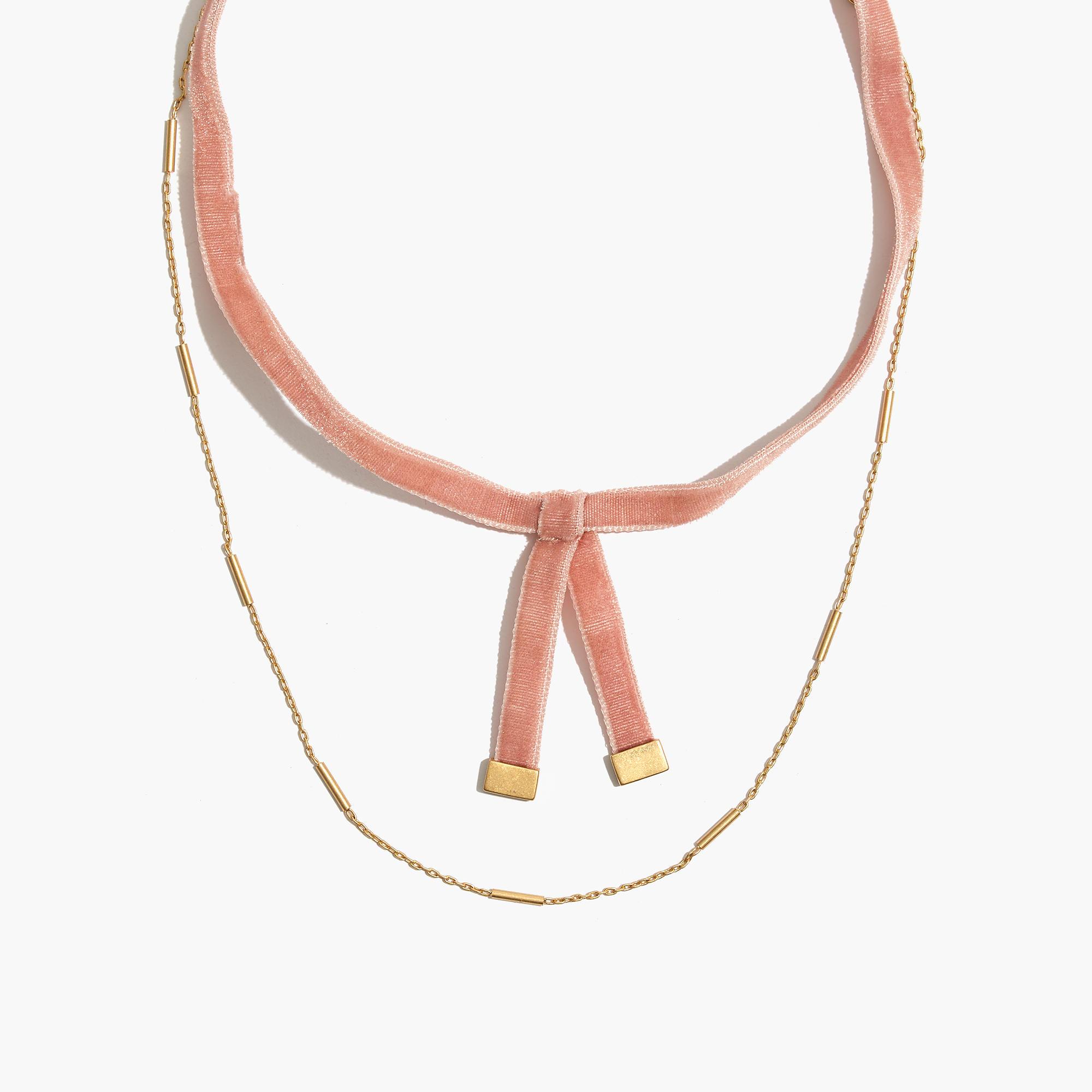 Madewell Velvet Layered Choker Necklace