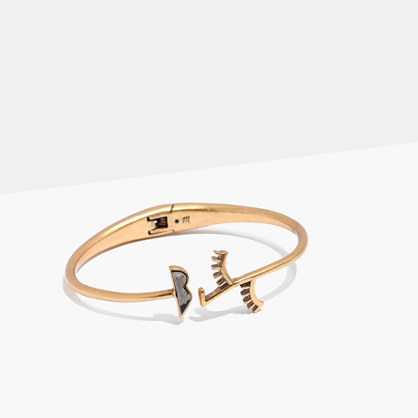 Face Value Hinge Bracelet